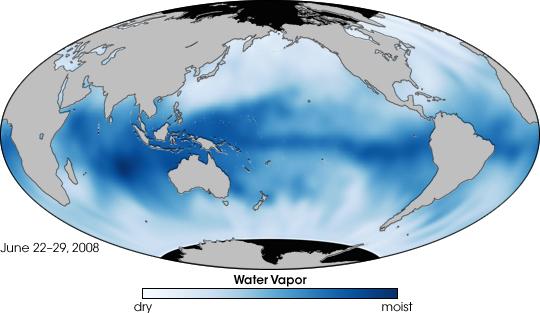 Water Vapor Map Water vapor distribution – GeoChristian