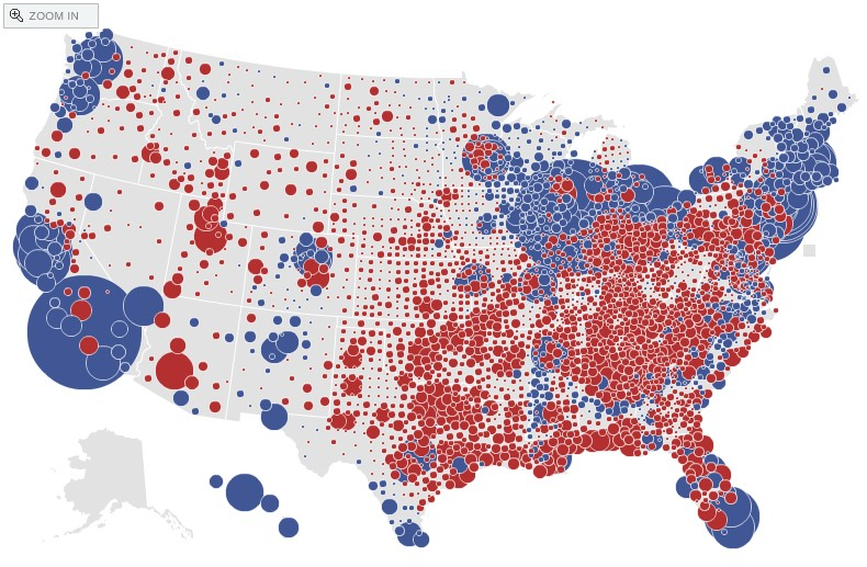 Maps The GeoChristian - Red blue maps of the us