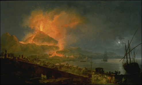 Pierre jacques volaire the eruption of mt vesuvius 1777 from the