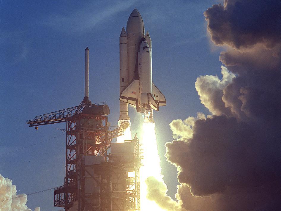 space shuttle launch. First shuttle launch 4/12/1981
