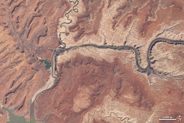 Lake Powell 2008, Credit: NASA Landsat 5