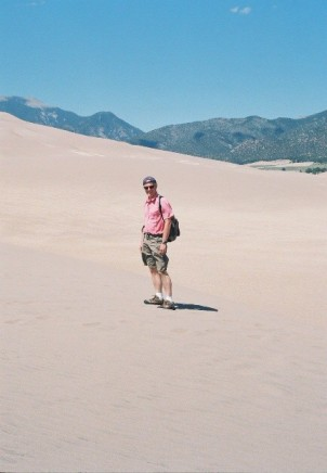 Me enjoying the dunes.