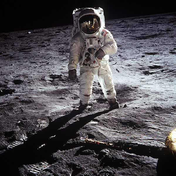 Buzz Aldrin on the moon. Credit: NASA