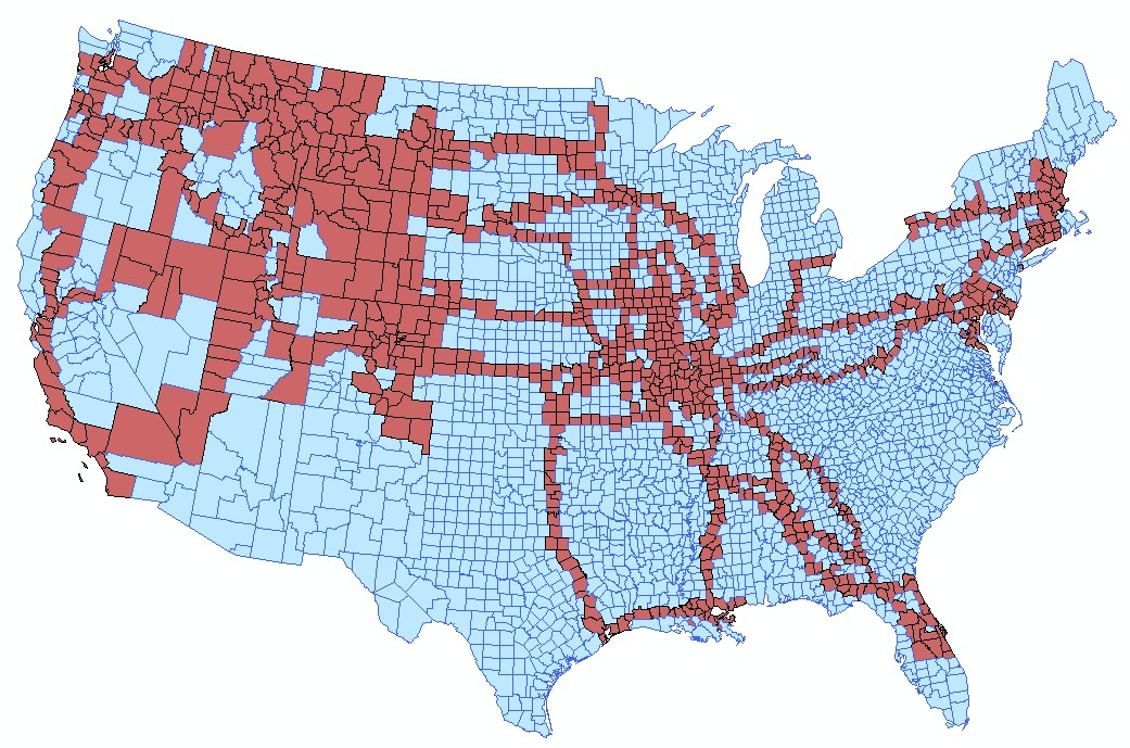 Where Ive been updated world US state and US county maps