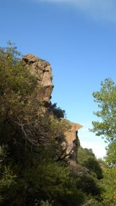 Precambrian gneiss outcrop