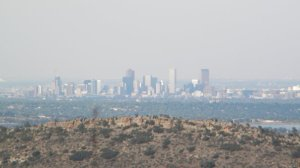 Denver skyline from a distance