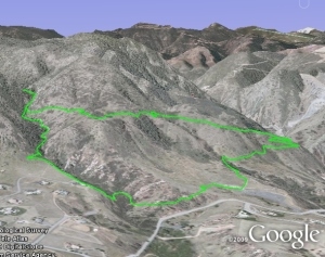 Google Earth view of the trail