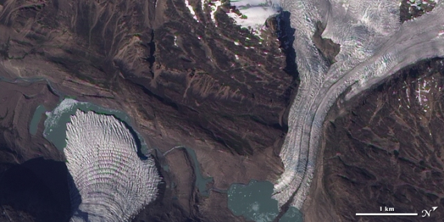 Glaciers Flow into a Greenland Valley --- 9/13/2009 --- http://earthobservatory.nasa.gov/IOTD/view.php?id=40169