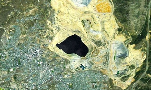 Butte, Montana -- 19th & 20th century mining created the United States' largest complex of EPA Superfund cleanup sites, mostly before effective regulation. Image -- ArcGIS Imagery Basemap