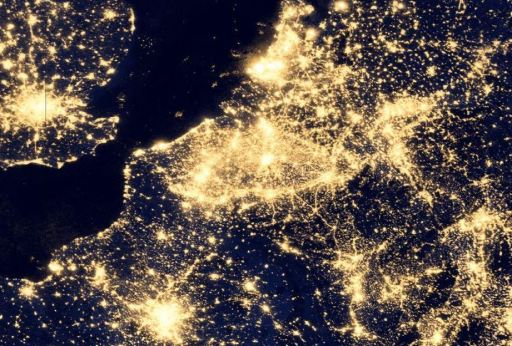 Netherlands, Belgium, and northern France, where you would be lucky to see Jupiter on a cloudless night