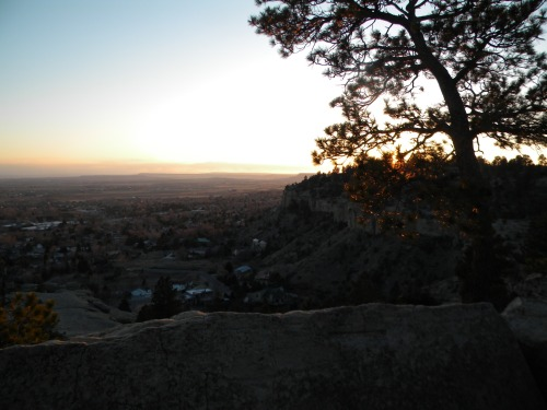 Sunset over the Yellowstone River valley.