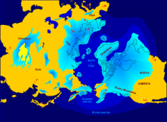 Extent of Northern Hemisphere glaciation. Credit - Wikipedia http://en.wikipedia.org/wiki/File:Northern_icesheet_hg.png