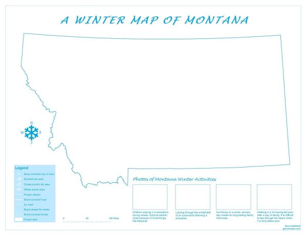 Montana Winter Map Nelstead 2